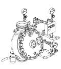 """Pilot Regulating Vertical Trim for 6"""" (DN150) Model J Flow Control Valve"""