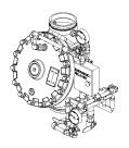 "6"" (DN150) Model J Flow Control Valve Horizontal Stainless Steel Trim"